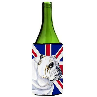 English Bulldog With English Union Jack British Flag Wine bottle sleeve Hugge...