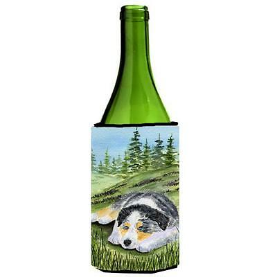 Carolines Treasures Australian Shepherd Wine bottle sleeve Hugger 24 oz.
