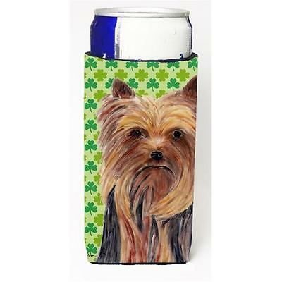 Yorkie St. Patricks Day Shamrock Portrait Michelob Ultra bottle sleeves for s...