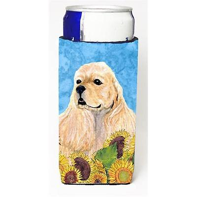 Cocker Spaniel In Summer Flowers Michelob Ultra bottle sleeves For Slim Cans ...