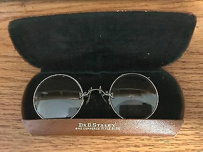 Vintage Clip On Spectacles Eyeglasses With Hard Case