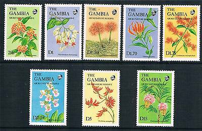 Gambia 1987 Flowers SG 715/22 MNH