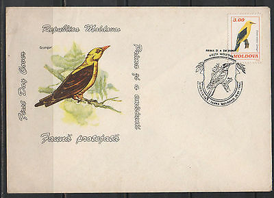 moldova fdc first day cover birds 1993   h2.100