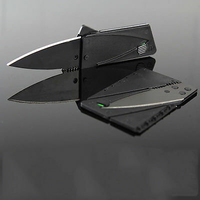 Hot Outdoor Credit Card Thin Cardsharp Folding Razor Pocket Wallet Knife Camping