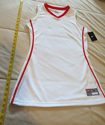 Nwt Nike Red/white Athletic Dress-Size M