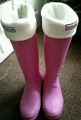 Hunter socks with pink wellington boots size 38 GB 5