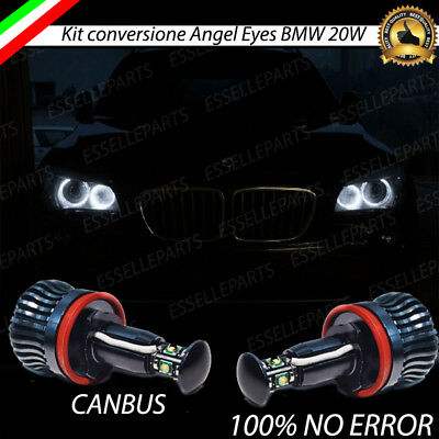 Luci Di Posizione Led H8 Specifico Angel Eyes Bmw X1 E84 6000K Bianco Canbus
