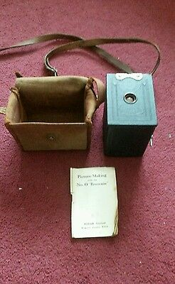 Vintage No 0 Brownie camera model A with case and instructions Kodak