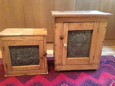 Two French Pine Cheese Cupboard Bread Safe Barn Find Country House