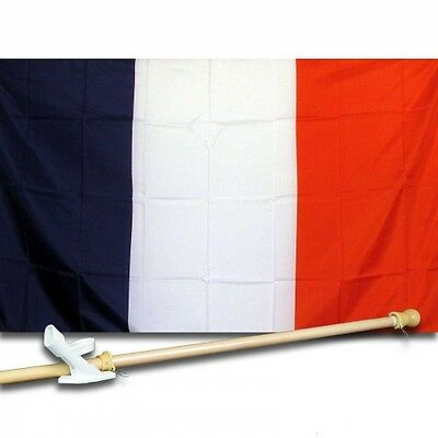 FRANCE 3ft x 5ft Country Flag Pole Mount Banner 90cm x 150cm
