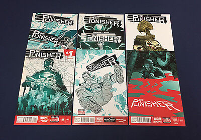 Punisher #1-8 : Marvel Now 2014 : First Prints : Edmondson, Gerads