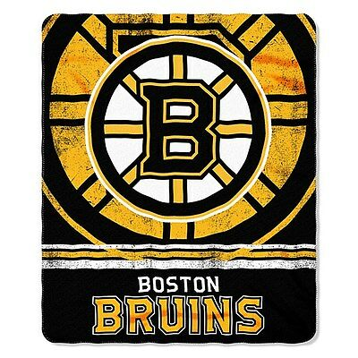 Boston Bruins Fleece Throw Blanket