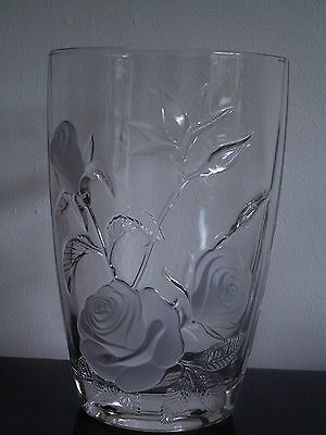 Large French ARC Glass vase ~ Beautiful