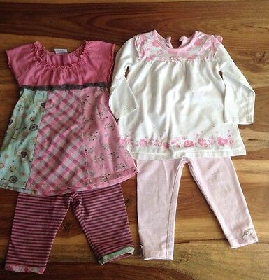Girls Bundle 2x Outfit Age 12-18 Months Next George