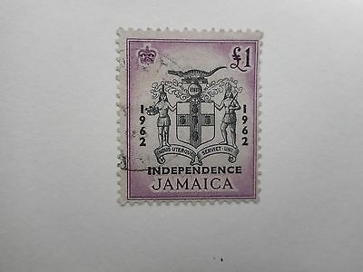 Jamaica 1962 £1 Independence SG 192 fine used