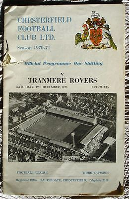 Chesterfield v Tranmere Rovers 70/71