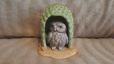 Woodland Surprises Owl By Jacquelin Smith Hand Painted Fine Franklin Porcelain