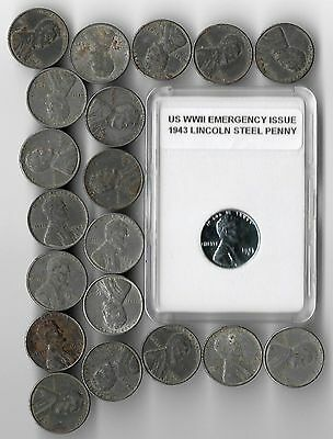 Rare Old USA WW2 War WWII US Collection 1943 Wartime Emergency Issue 20 Coin Lot