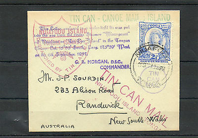 Tonga  Cover To N S Wales- Australia-Many Cachets/cancels-Superb Condition
