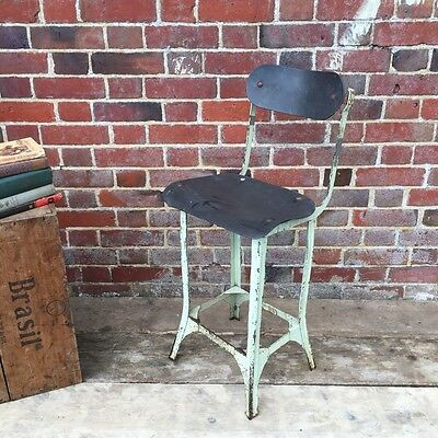 Industrial Vintage Factory Workshop Machinist Desk Office Chair