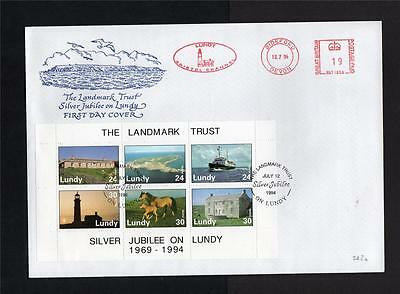 Lundy: 1994 Landmark Trust Sheetlet First Day Cover
