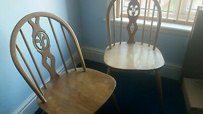 Ercol Dining Chairs (pair)