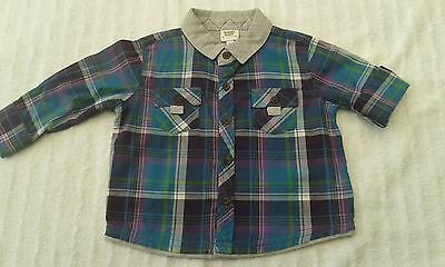 stylish ted baker long sleeved shirt 3/6M checked/mint cond/worn 2/3 times