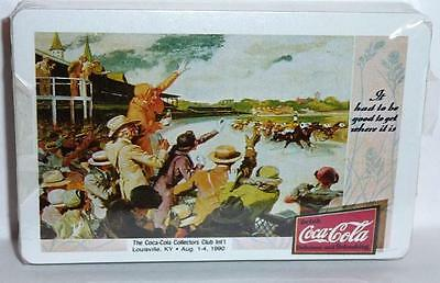 1990 Drink Coca Cola Playing Cards, Sealed. Horse Race Track