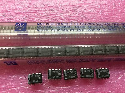 5pcs National Semiconductor LM386N-1 LM386 Low Voltage Audio Power Amplifier