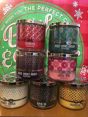 Bougies 3 mèches / Bath and Body Works / 3 wick Candle Christmas Season