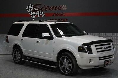 2010 Ford Expedition Limited Sport Utility 4-Door white,custom wheels, black leather