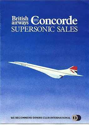 Concorde British Airways Early Supersonic Sales Brochure Rare
