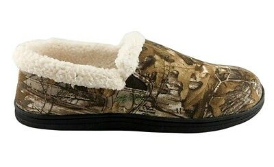 Men's Aline REALTREE Camo Sherpa Lined Indoor/Outdoor Moccasin Slippers - NEW