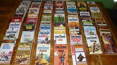 62 Louis L'Amour books in great condition. (Only a couple of duplicates)