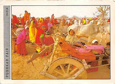 BG21489 pushjar fair  rajasthan people types children cow vache folklore india