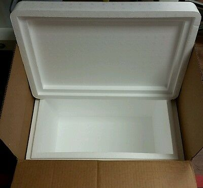 "Styrofoam Insulated Cooler with Shipping Box ext meas 20""Lx13.5""Wx15""H Large"