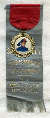 1905 Portsmouth, New Hampshire Fire Department Annual Parade Ribbon