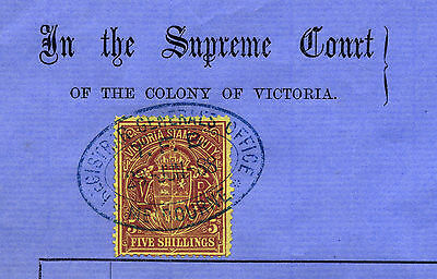 Victoria: 5/- stamp duty on document