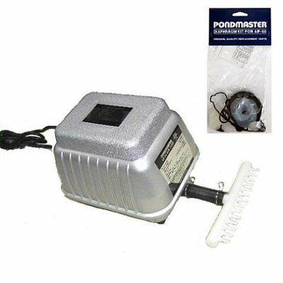New Pondmaster Ap 60 Deep Water Air Pump 5500 Cu. In./min. & Diaphragm Kit