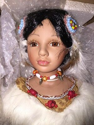 Native American Indian Yepa Porcelain Doll NIB Heritage Signature Collection
