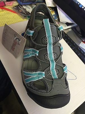 Wmns Size 7 Oasis 3 Gray And Turquoise Water Shoes