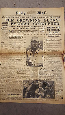 Daily Mail : June 2 1953 : Coronation, Everest Conquered