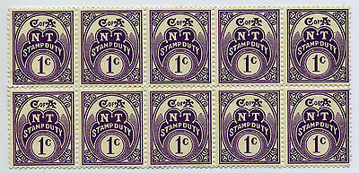 Northern Territory stamp duty 1c block of 10