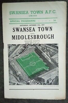 Swansea Town v Middlesbrough 1957/8