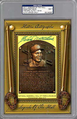 Eddie Mathews 2011 Historic Autographs Legends Of The Hall Hof Auto #18/43