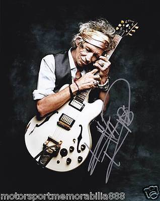 Keith Richards 6x4 or 8x12 photos THE ROLLING STONES SIGNED PRINT AUTOGRAPHED
