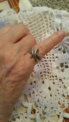Haunted witches sterling silver small diamonds ring