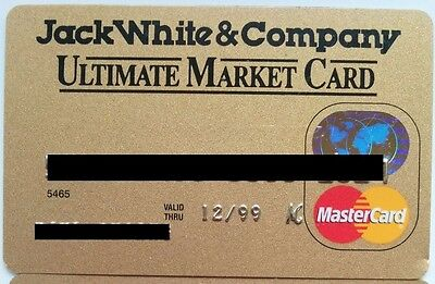 Expired Vintage Credit Card Jack White MasterCard Bank One