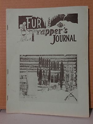 FUR TRAPPER'S JOURNAL  1966  by Thompson         vintage trapping book