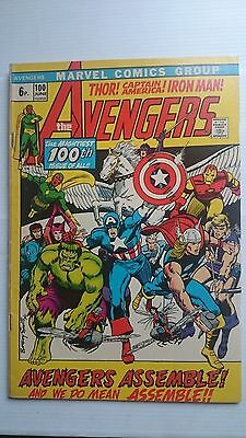 The Avengers # 100  Fn+  Barry Smith  1St Print  1972  Pence Variant